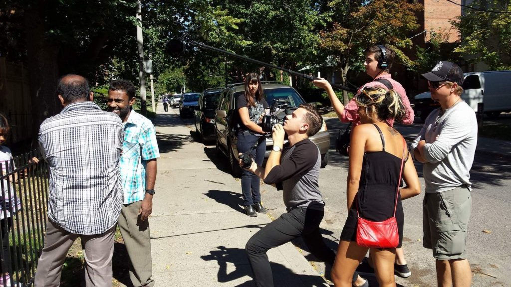 Maya on film shoot